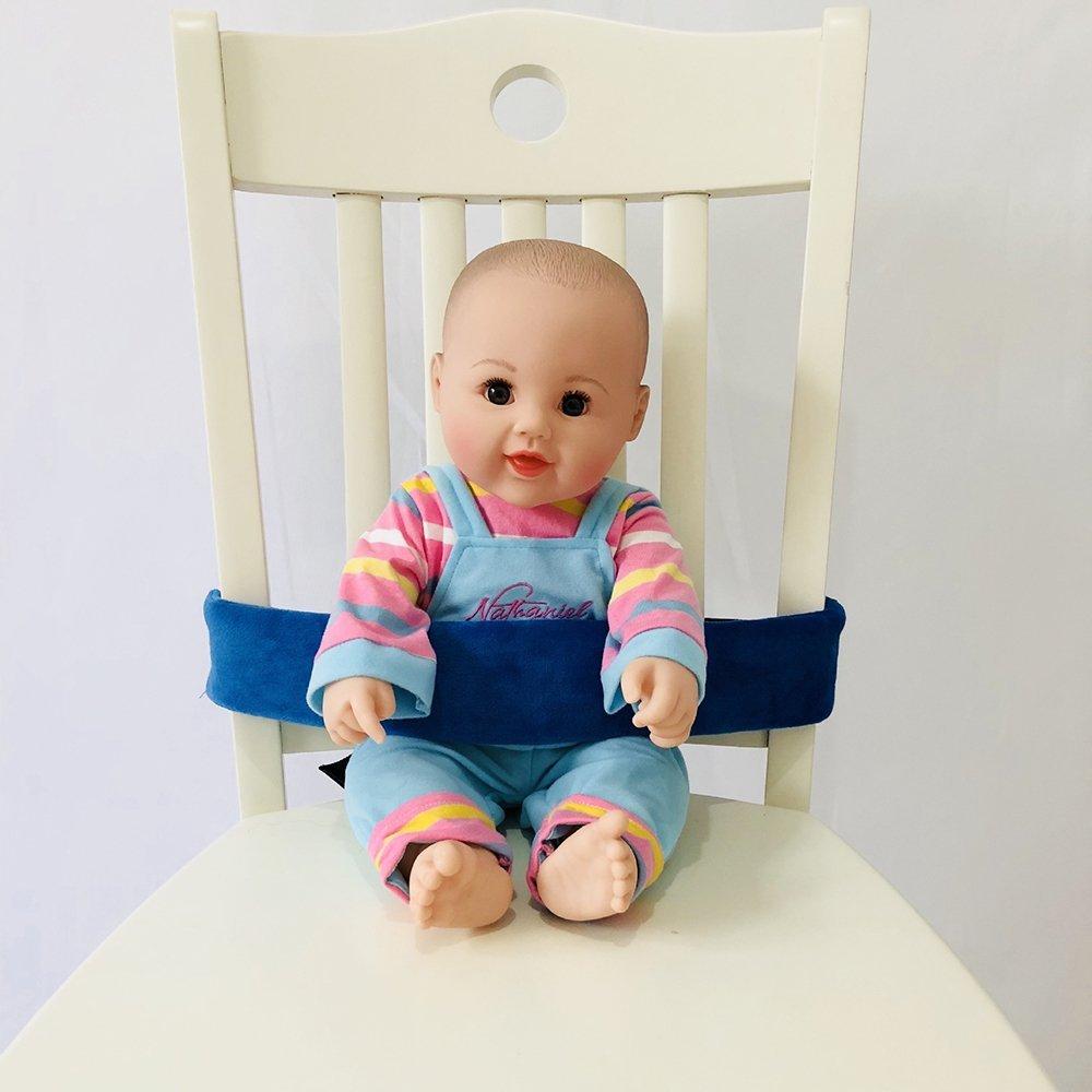Tragbare Baby F/ütterung Stuhl G/ürtel Kleinkind Sicherheitsgurt schwarz