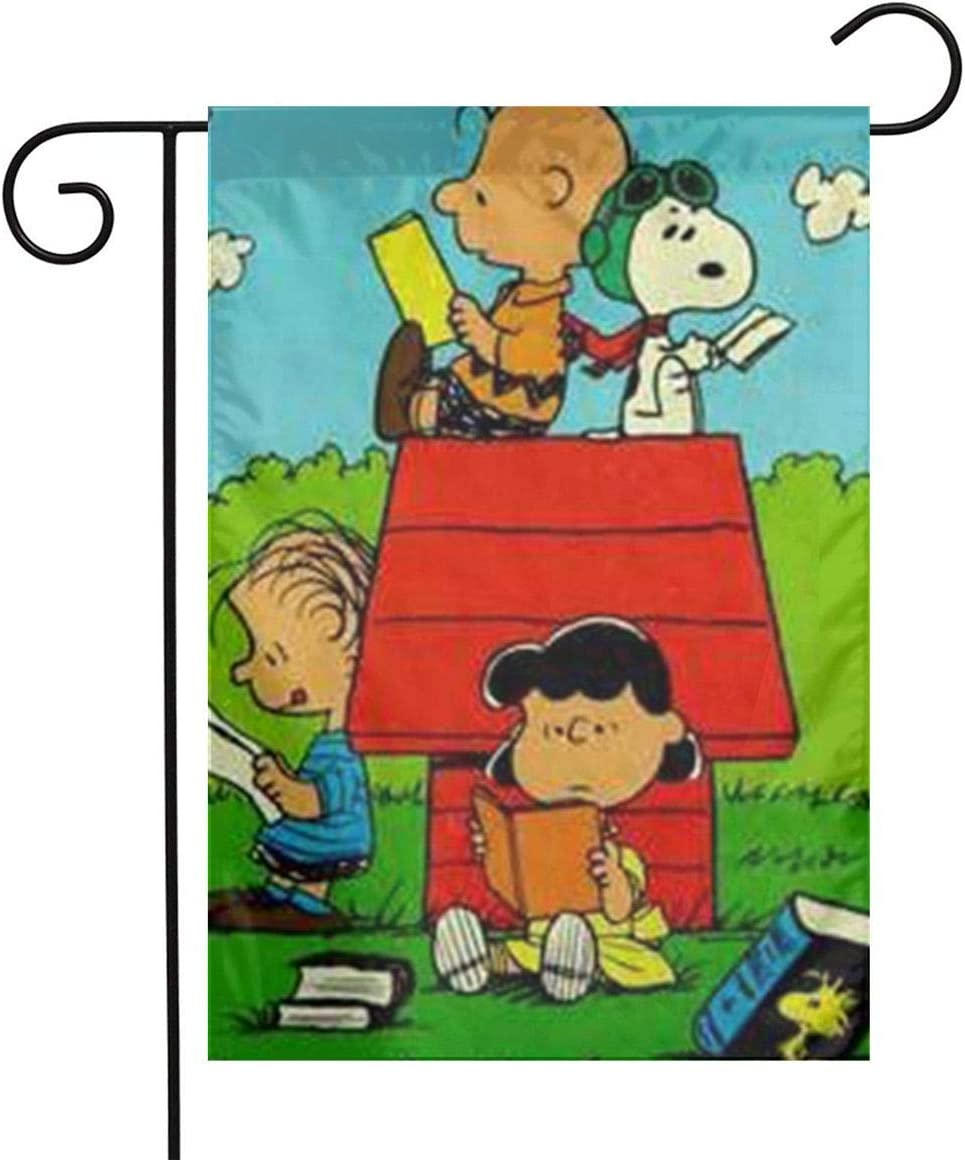 LYYTZ_id Snoopy Back to School Garden Flag Home Outdoor/Indoor Yard Flag 12 X 18 Inch
