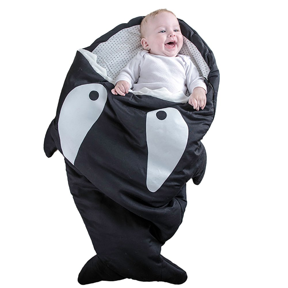 Shark Bites Baby Sleeping Bag Newborn Sacks Swaddling Blanket (Black) by HOT SEAL