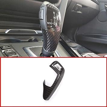 Style#2-Sports Type TulinTulin Carbon Fiber Printing Plastic Gear Shift Knob Cover Trim for BMW F20 F30 F31 F34 X5 F15 X6 F16 X3 F25 X4 F26 F10