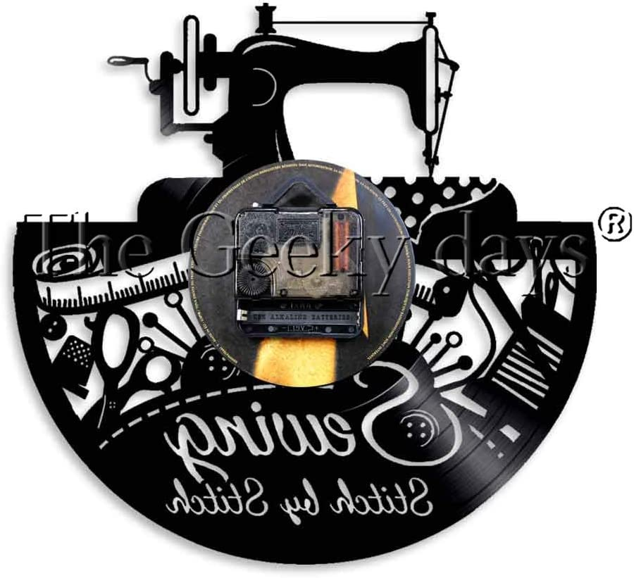 CVG Máquina de Coser Stitch by Stitch Vinyl Record Reloj de Pared ...