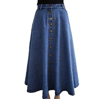 BOLAWOO-77 Faldas Mujer Elegante La Rodilla Falda Maxi Otoño A ...