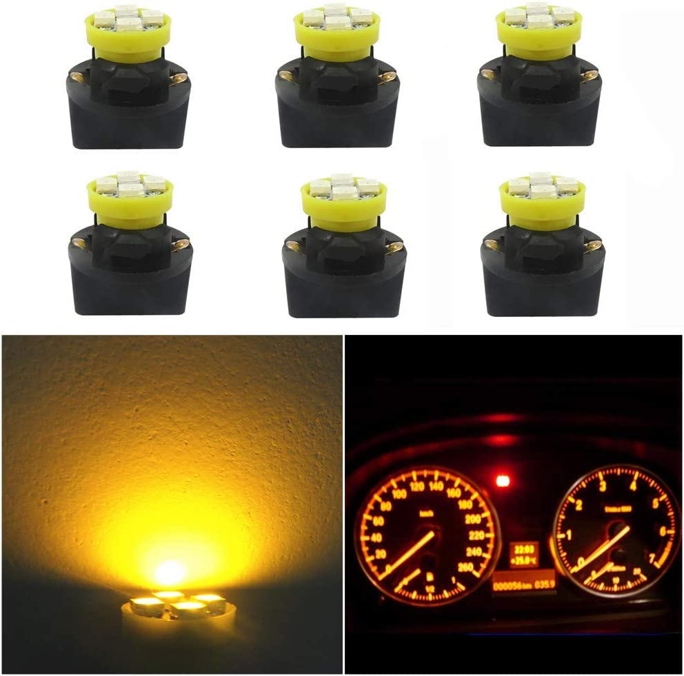 194 Clear Wedge Base Bulbs Instrument Guage Marker Warning Light Chevy Truck