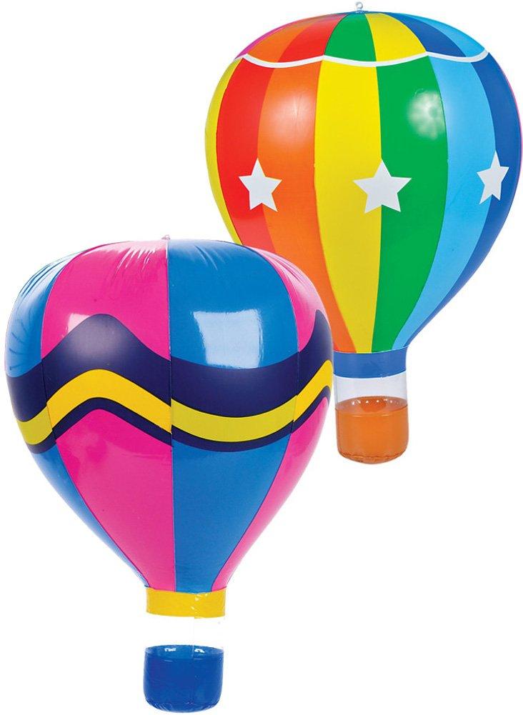 Rhode Island Novelty Lot of 12 22 Assorted Inflatable Hot Air Balloon Toy Decoration