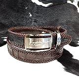 Handmade Genuine Brown crocodile alligator Leather skin belt strap buckle