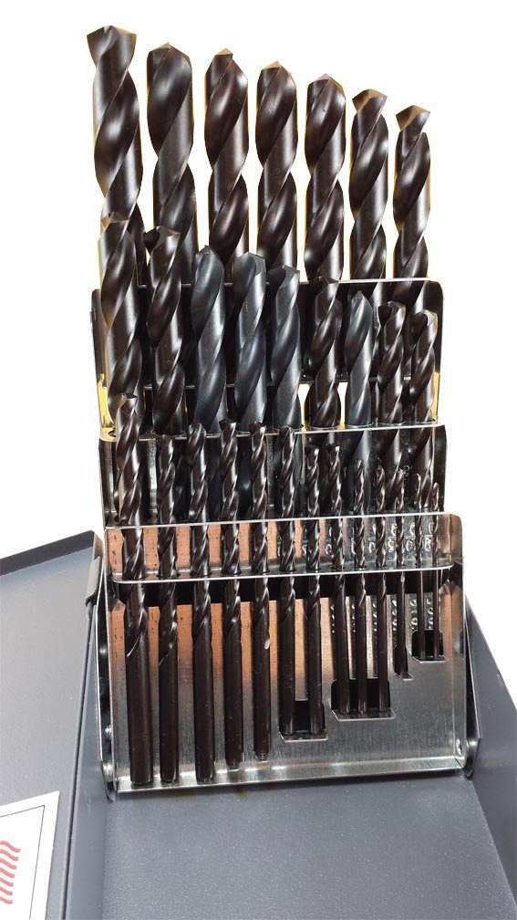 Drill Hog 29 Pc Drill Bit Set M4 Steel 1//16-1//2 Index