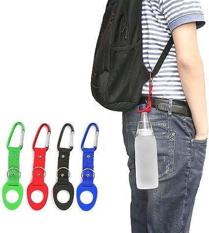 Water Bottle Holder Outdoor Camping Hiking Tactical Carabiner Nylon Belt Buckle,