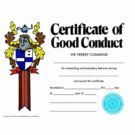 Amazon.com : Certificate of Good Conduct - Matte Paper - Quantity ...
