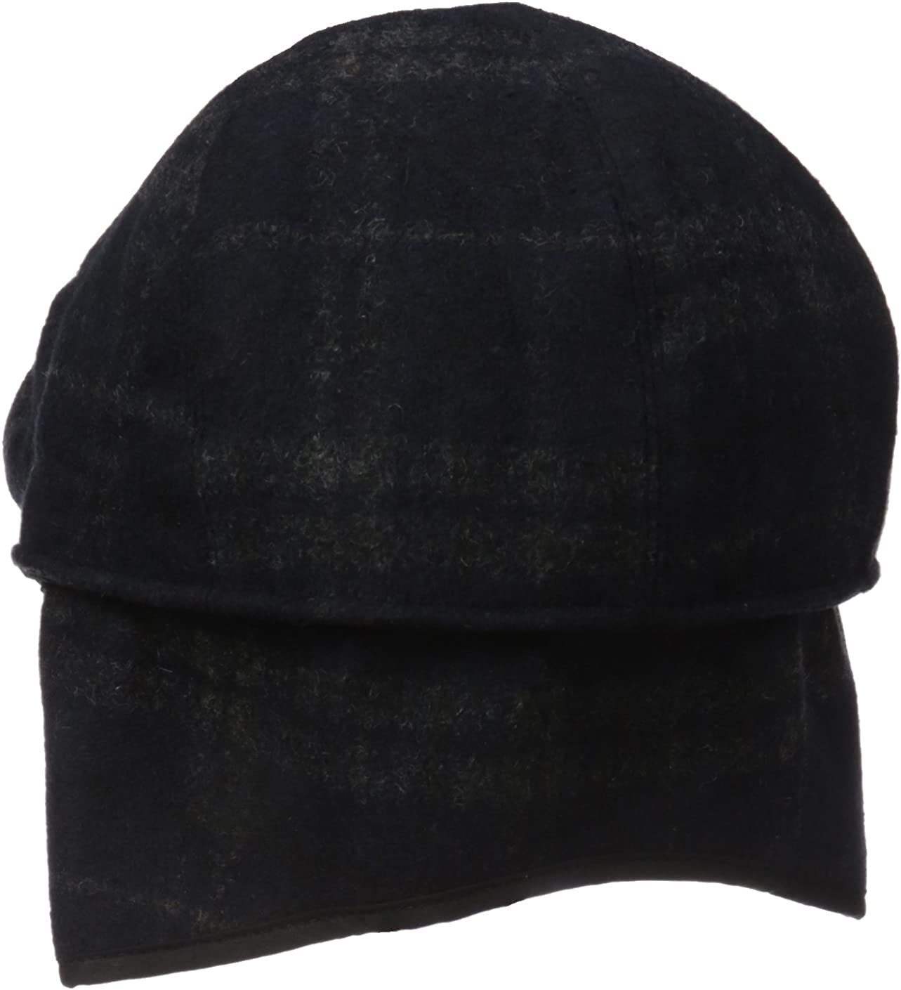 Henschel Hats Mens Wool Blend Plaid Ivy Hat with Earflaps Newsboy Cap
