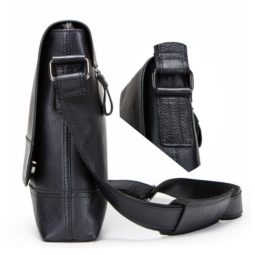 Color : Black, Size : L FeliciaJuan Bolsa de mensajero port/átil Shoulder Bag Leather Diagonal Bag Vintage Crazy Leather