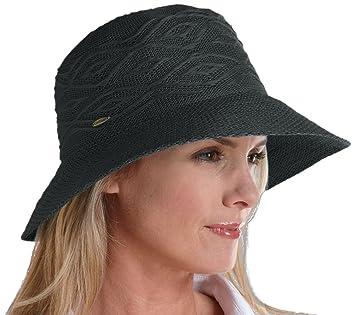 7addb6375158c Coolibar Damen Knitterfreier UV-Schutz 50+ schwarz One Size: Amazon ...