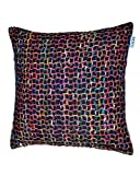 Chain Cushion Black W/Feather Dimensions: 23.5''W x 0.5''D x 23.5''H Weight: 5 lbs