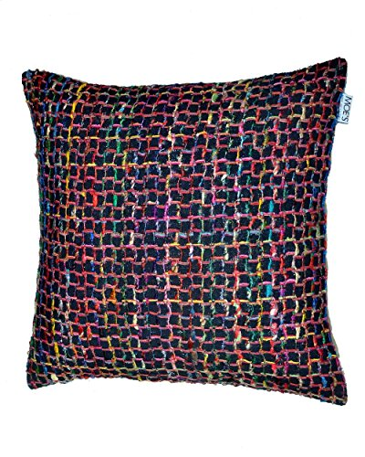 Chain Cushion Black W/Feather Dimensions: 23.5''W x 0.5''D x 23.5''H Weight: 5 lbs by Moe's Home Collection