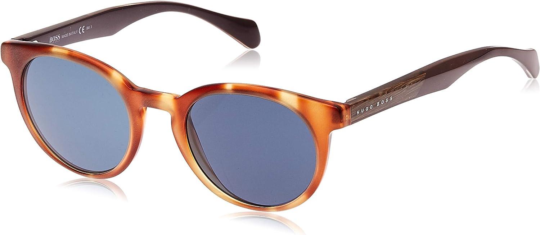 Hugo Boss Boss 0912/S 9A 1K1 Gafas de sol, Marrón (Horn Crybrwn/Bluette), 50 Unisex-Adulto