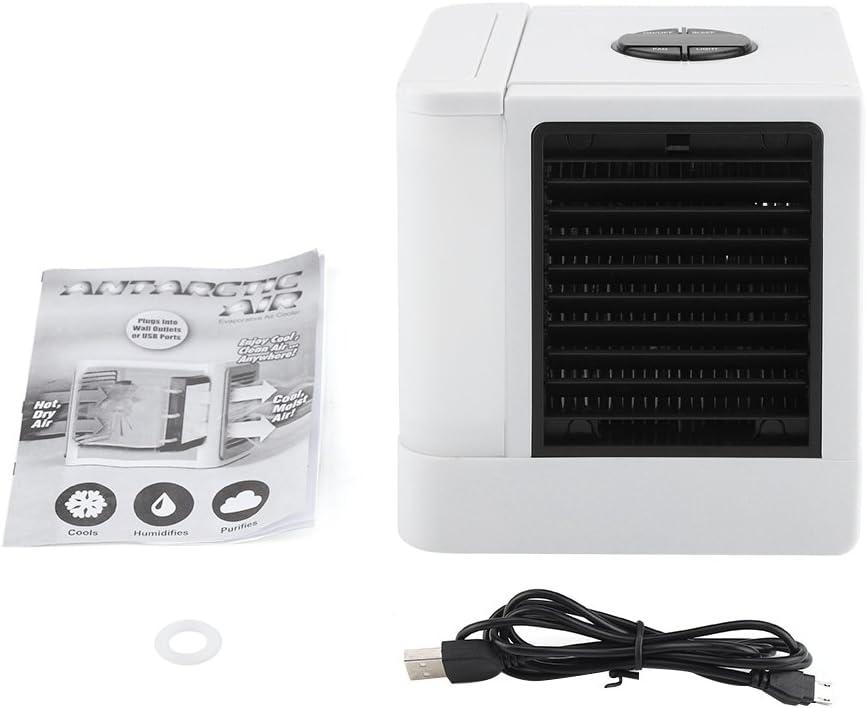 USB tragbarer Luftk/ühler Klimaanlage Desktop K/ühler Luftbefeuchter Luftbefeuchter Luftbefeuchter mit LED Nachtlicht /& einstellbare 3 Geschwindigkeiten f/ür B/üro Zuhause Outdoor Reisen
