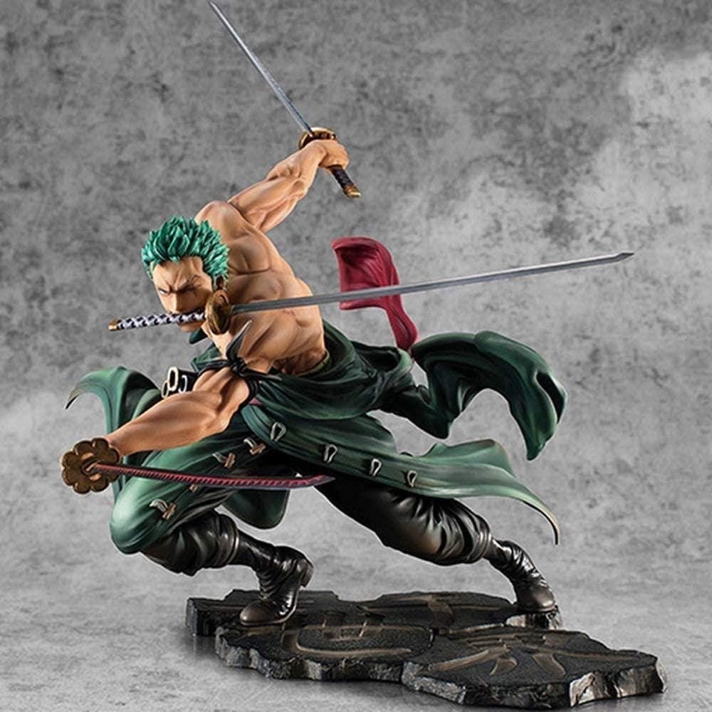 N / A Anime One Piece Roronoa Zoro Figura Tres Cuchillas SA-Maximum Ver. Colección de figurillas de PVC Modelo 18cm Figurine