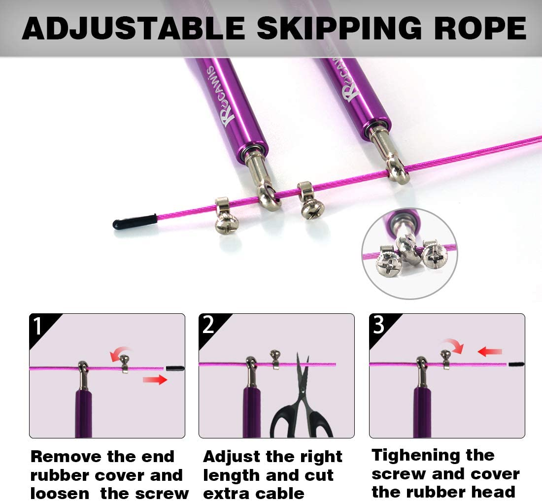Skipping Rope Skipping Rope Adult Women Skipping Ropes for Fitness Weighted Skipping Rope for Men Gym Skipping Rope Boxing Jump Rope Crossfit Skipping Rope with Aluminum Handle Speed Skipping Rope