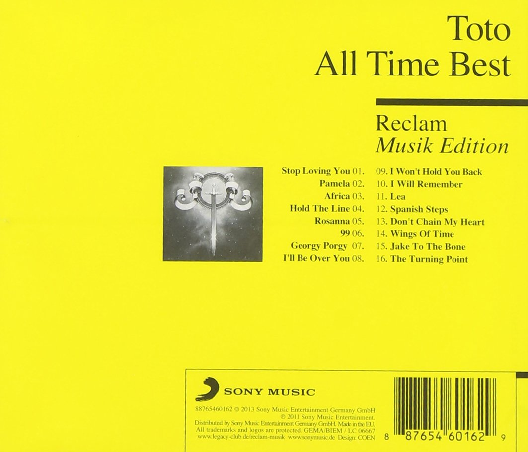 TOTO - All Time Best Reclam Musik Edition - Amazon.com Music