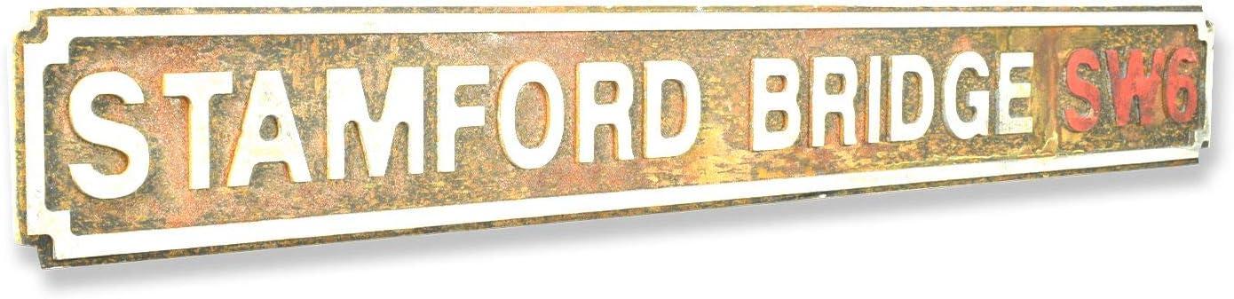 tama/ño mediano, acabado oxidado Retro Vintage Wholesale Stamford Bridge SW6 Se/ñal de calle