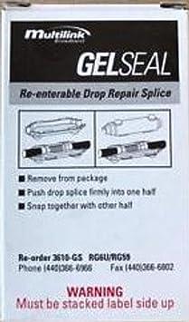 LOT OF 4 GEL SEAL RE-ENTERABLE DROP REPAIR SPLICE 3610-GS MULTILINK