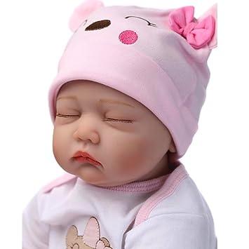 b2320de704d31 Amazon.es  NPK 22 Pulgadas Lifelike Reborn Bebé Muñecas Vinilo de Silicona  Realista Hecho a Mano Bebés Para Niñas Juguetes Reborn Baby Dolls 55cm
