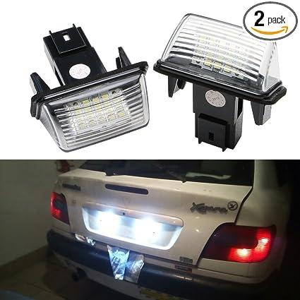 Peugeot Led License Plate Light Lamp Bulbs For Peugeot 206 207 306 307 308  406 407 5008 Partner Citroen C3 C3 Ii C3 C4 C5 Led Number Plate Tail Lamp