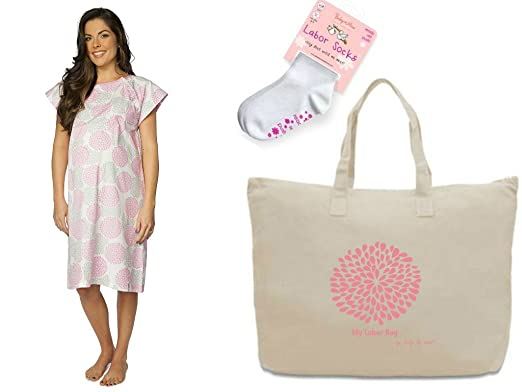 6e0e4ec139f Baby Be Mine Gownies Delivery Hospital Labor Bag Set (S M pre pregnancy