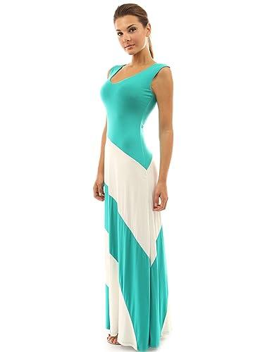 PattyBoutik Women's V Neck Striped Maxi Dress