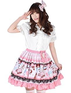 2739bb045b Nite closet Lolita Skirt Black White for Women Sweet Flared Knee ...