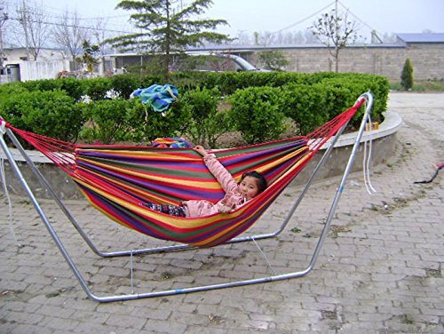 (New Arrival 190cm x 80cm Hammock Garden Indoor Swing Bed Relaxing Swing Sack Max 250KGS Canvas Hammock Air Chair)