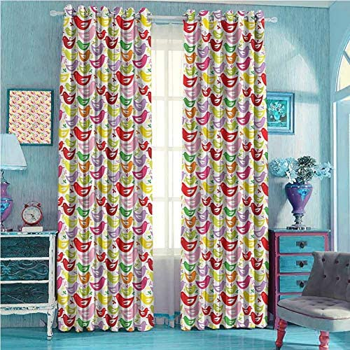 DRAGON VINES Curtains for Living Room Abstract Animal Silhouettes,Room Darkened W96 x L107
