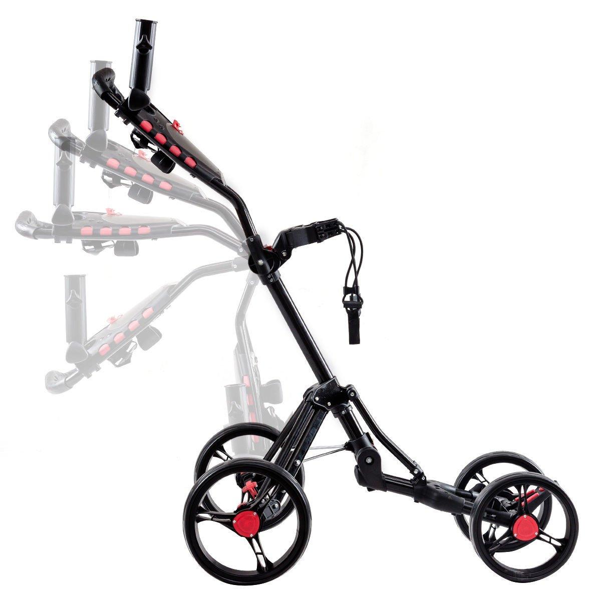 Amazon.com: Colibrox - Carrito plegable de 4 ruedas, palo de ...