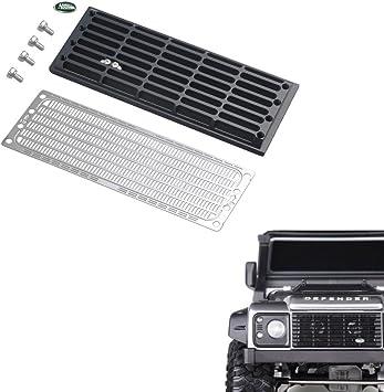 XUNJIAJIE Metal Intercooler Radiator Grille Set para 1/10 RC Coche Traxxas Trx4 T4 Defender