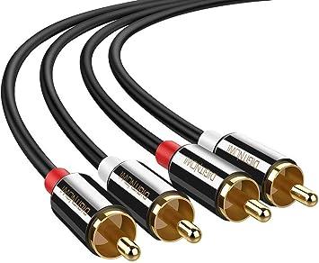 Cable de Audio RCA a RCA Macho a Macho para Subwoofer ...