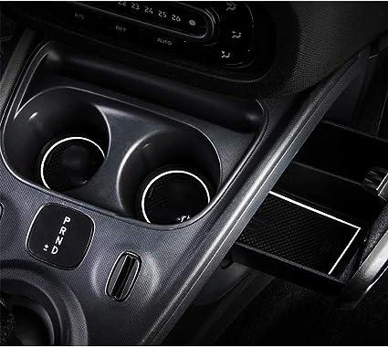 Lfotpp Smart Forfour W453 Gummimatten Wasser Becherhalter Innentür Matten Antirutschmatten Türschlitzmatte 10 Stücke Weiß Auto
