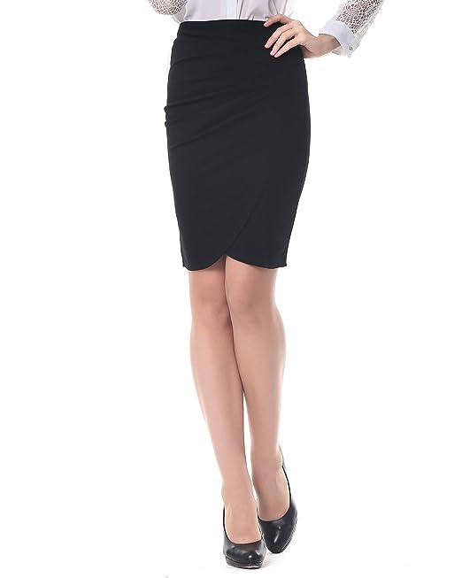 dfeab909c0 Kenancy Mujer Faldas Largas de Tubo Elegante Cintura Alta Elástico  Atractiva Falda de Lápiz Danza Bodycon Negro S  Amazon.es  Ropa y accesorios