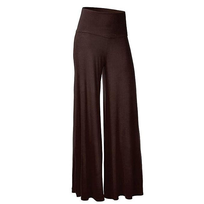 Yasminey Palazzo Hosen Damen High Waist Stretch Bequeme Wide Leg Pants Fashion  Elegante Locker Jungen Schöne 5ba39cbb31