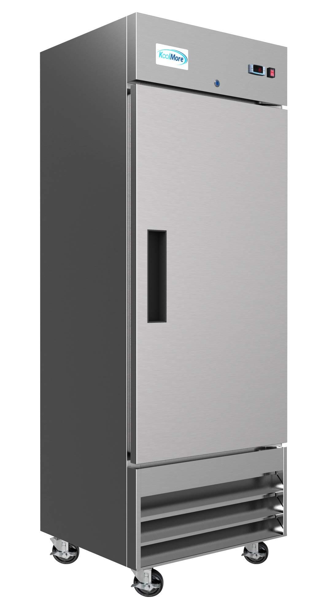 KoolMore 29″ Stainless Steel Solid Door Commercial Reach-in Refrigerator Cooler – 19 cu. ft (RIR-1D-SS-19C)