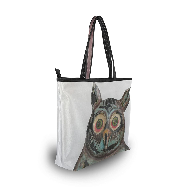 2016 Women's New Fashion Handbag Shoulder Bags,Cute Art Owl Oil Painting ,Tote Bag