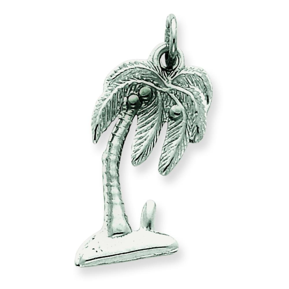 Sterling Silver Palm Tree Charm Jewelry Tropics