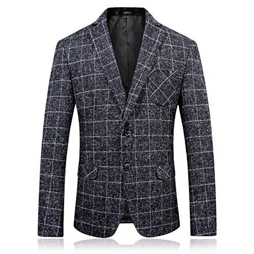 uomo completo casual uomini vestito casual slim uomini invernale di business casual vestito di lana, gray, - 40 - 6 sndofej