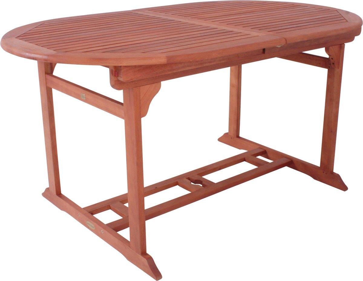 Gartentisch Stockholm oval und ausziehbar Eukalyptus geölt Holztisch ...