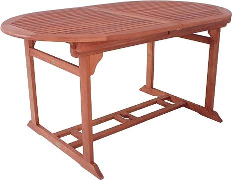 Ovaler Gartentisch.Amazon De Gartentisch Stockholm Oval Und Ausziehbar