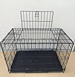 24 Inch Foldable Breeder Puppy Kitten Rabbit Training Cage With 1/2 inch Bottom Wire Grid Mesh Floor (30'')