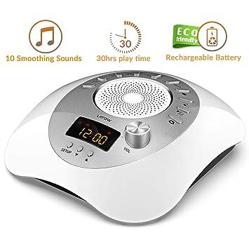Máquina de ruido blanco, LATOW Womb Sound Machine para bebé durmiendo, terapia de sueño portátil 10 ...