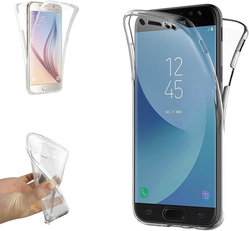 REY Funda Carcasa Gel Transparente Doble 360º para Samsung Galaxy ...