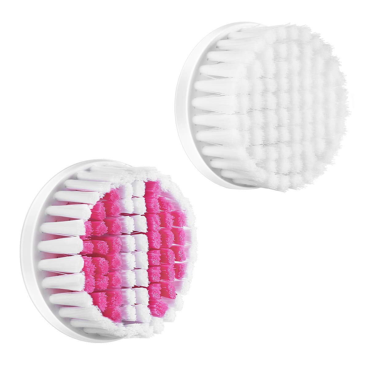 Facial Brush Heads for 4 in 1 Travel Facial Brush, Pack of 2- Pink