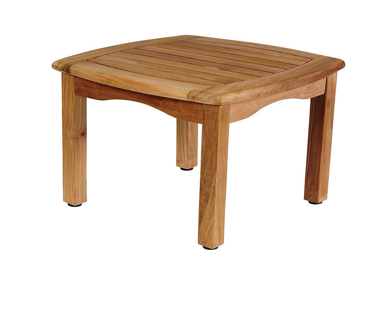 Amazon.com: Mesa auxiliar cuadrada de madera exterior jardín ...