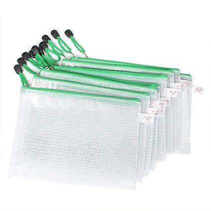 Ogquaton Rejilla Bolsa de documentos de plástico Carpetas ...