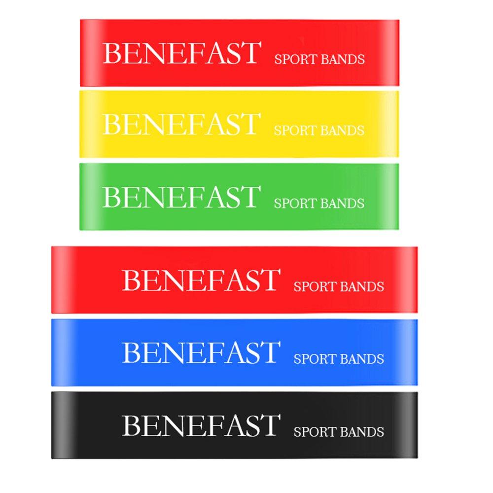 100%本物 benefast Exercise Resistance Set Bands Set、6のセットに異なる強度レベル、ホームフィットネスの、ストレッチ、ヨガ、ピラティス of、リハビリ、物理療法 B07BT3FBS1 Set of 6 Set of 6, ルーペスタジオ:c20783d0 --- arianechie.dominiotemporario.com